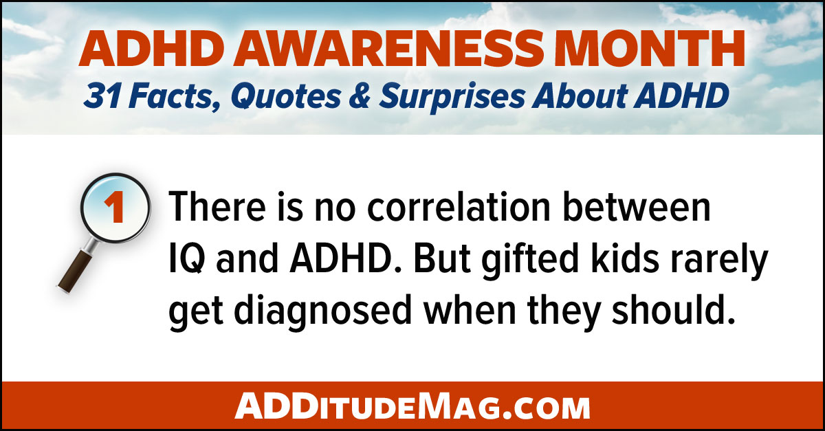 There is no correlation between IQ and ADHD