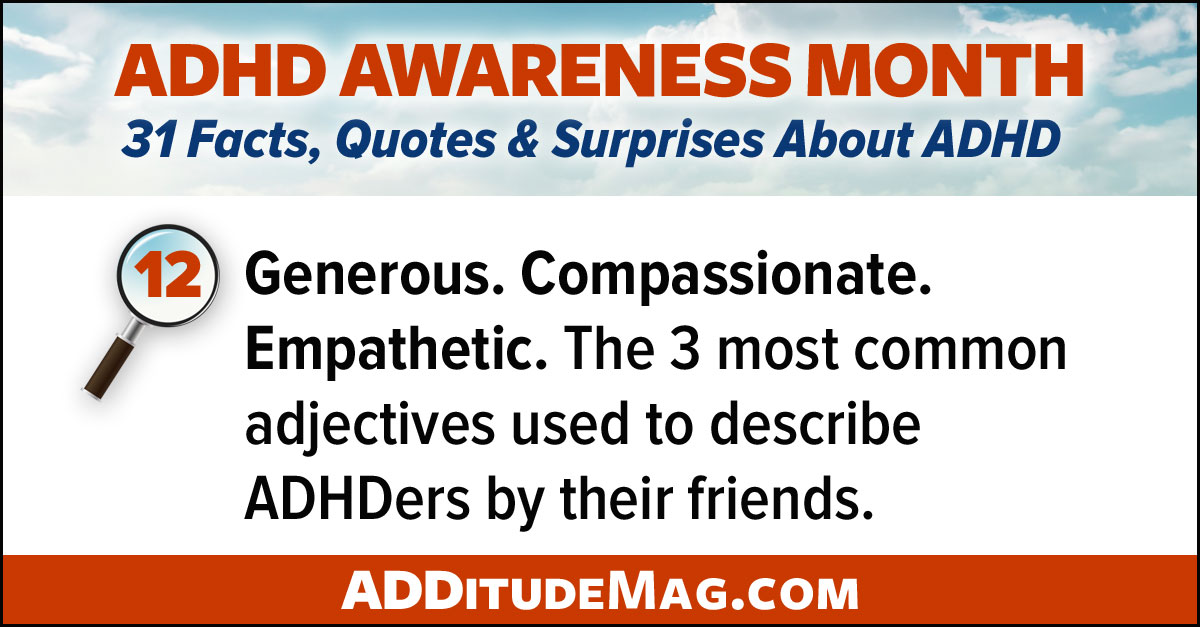 Personality traits of individuals with ADHD
