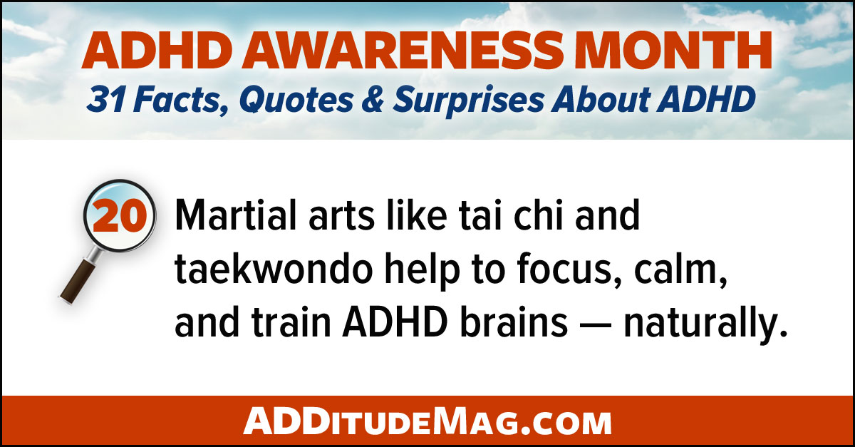The benefits of martial arts for adults with ADHD