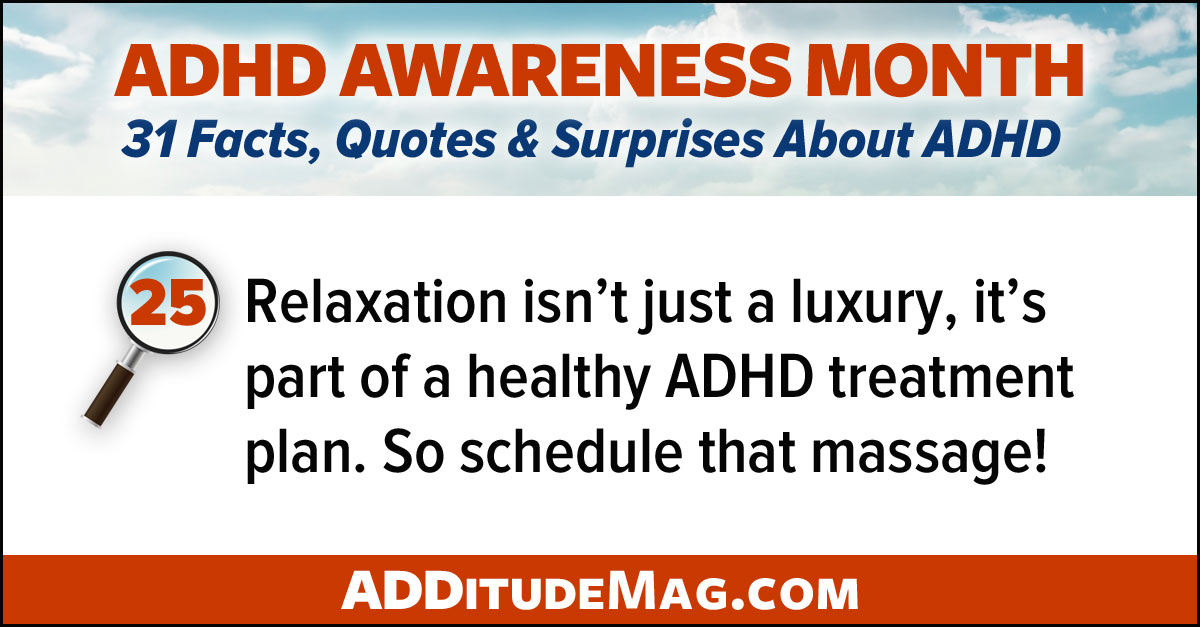 Using relaxation to manage ADHD symptoms