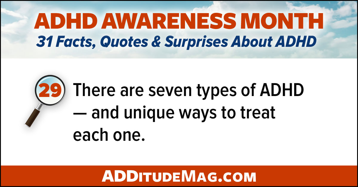 The seven types of ADHD