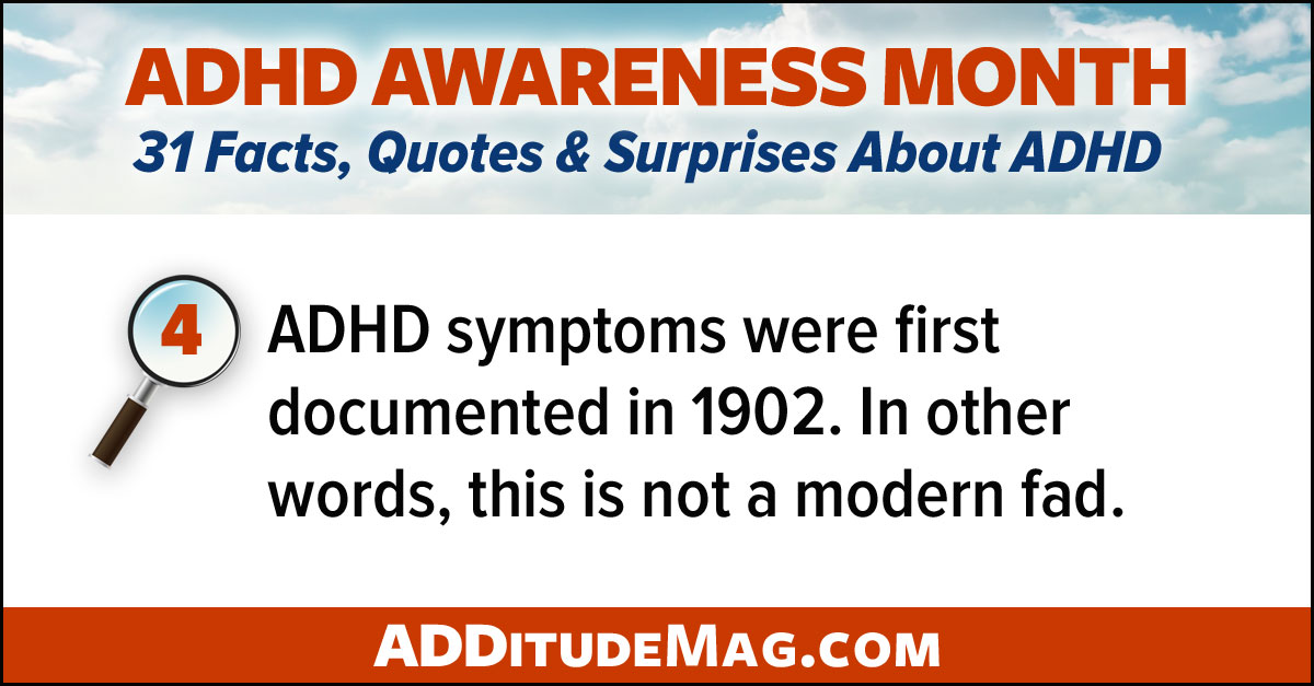 ADHD is not a new condition