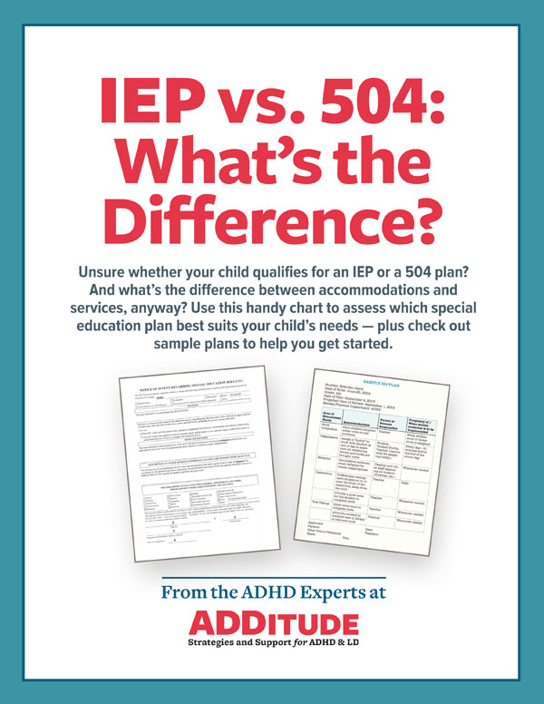 Iep Vs 504 School Laws Learning Accommodations