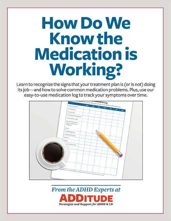 how do adhd meds work medication monitoring log