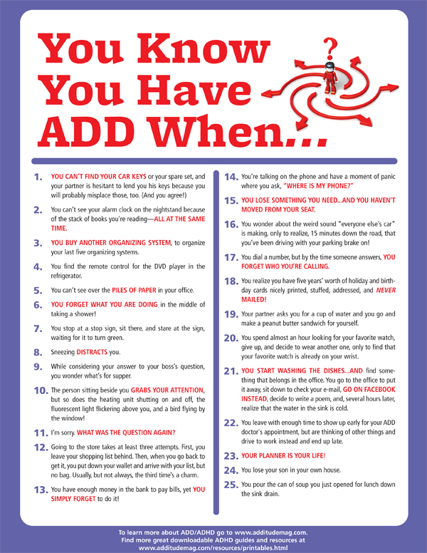 How Do You Know Have Adhd Look For These Signs. You Know Have Adhd When. Worksheet. Getting To Know You Worksheet For Adults At Clickcart.co