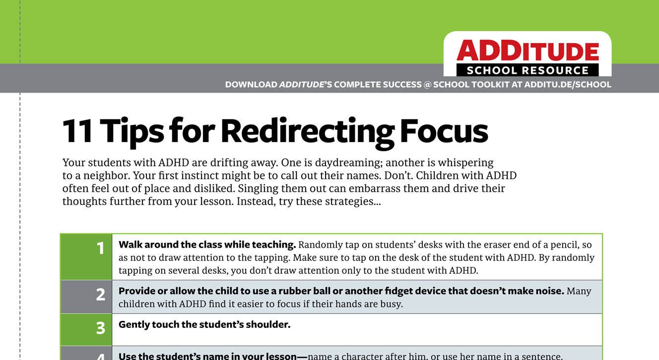 11 Tips for Redirecting Focus