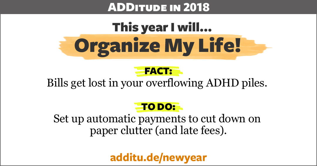 ADHD and piles, clutter